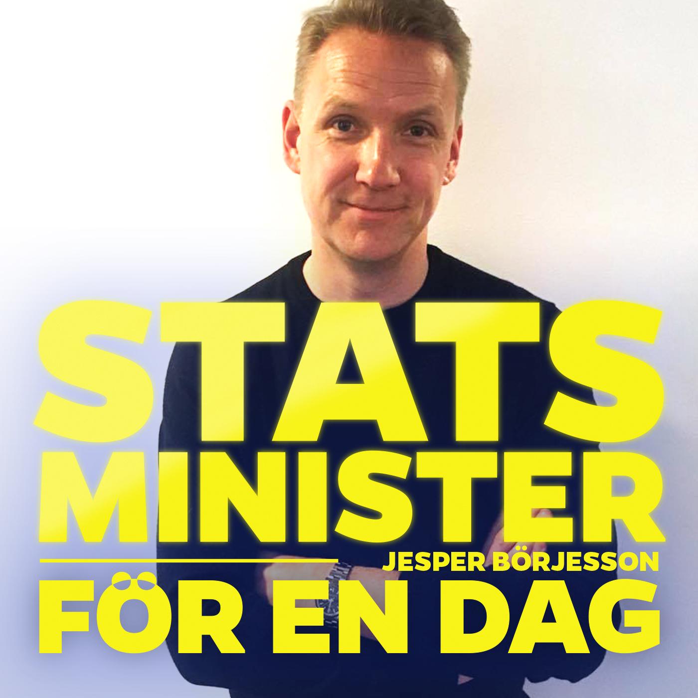 Jesper Börjesson är statsminister för en dag.